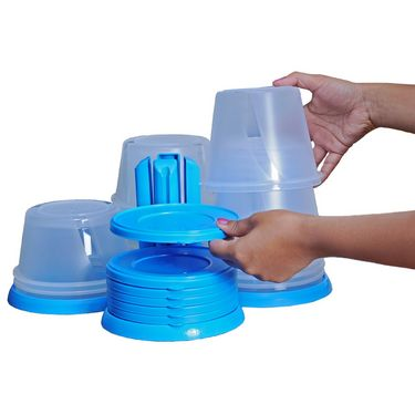 Nesterware 70 pcs storage container set with stand