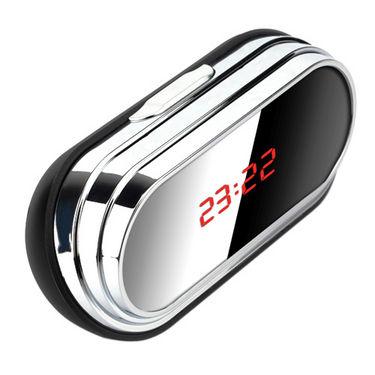 NPC Spy Table Clock (12 Hrs Recording:Hdmi) - Black & Silver
