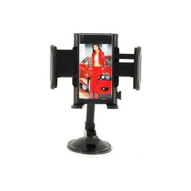 Vibrandz Universal Adjustable Goose Neck Car Mount Holder for Mobile Phone - Black