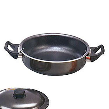 Ok Non Stick Frypan (Multipurpose) with Lid Classic-FPMP2 - Black