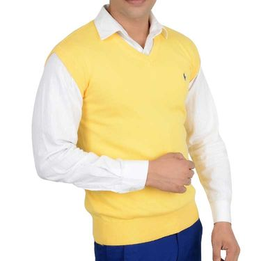 Branded Regular Fit Cotton Sweater_Os14 - Yellow