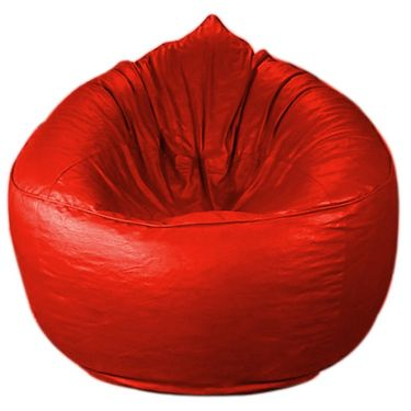 PSYGN Leatherette Sofa Bean Bag Cover -  PBB309-RED-XXXL