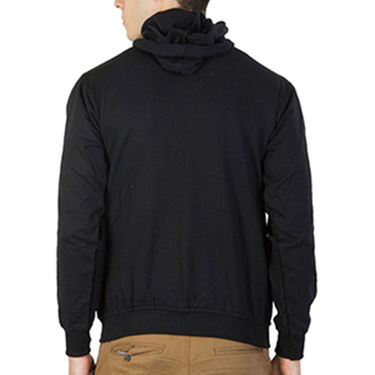 Printland Full Sleeves Cotton Hoodies_Pb1038 - Black
