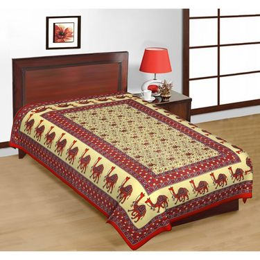 Priya Fashions Cotton 4 Double 4 Single Bedsheets With Out Pillow Covers-PF101D2S2B
