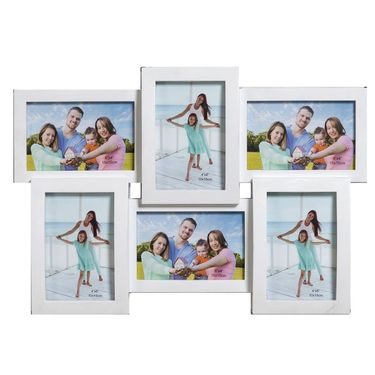 Charming White Collage Photoframe to Lock Moments