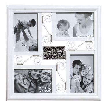 Soothing White Square Collage Photoframe to Hold Moments