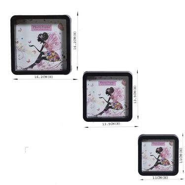 Blush Black 3 Unique Collage Photo Frames