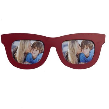 Brown Goggles Shape Collage Photo Frame