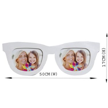 Wonderful White Goggles Shape Collage Photo Frame