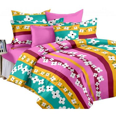 Set of 2 PARAS FASHIONS Cotton Printed Double Bed sheets With 4 Pillow covers-PFJDBCOM2017