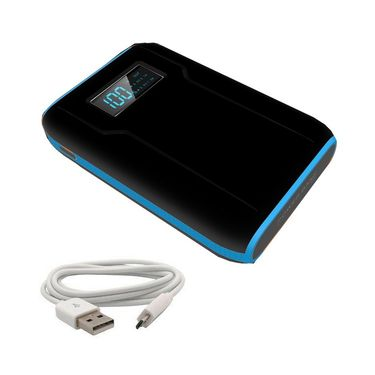 VOX 12000mAh with Display Dual USB Powerbank Portable Charger for Mobile Tablet PK-44 - Black