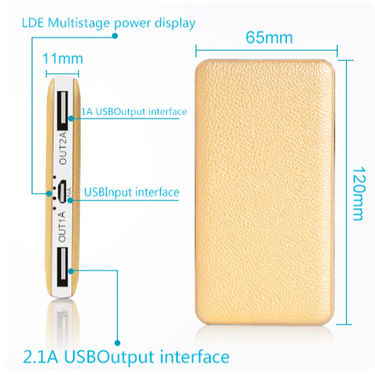 Vox 16000 mAh Power Bank with Double USB and Leather Body- PK55