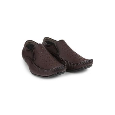 Pede Milan Synthetic Leather Brown Casual Shoes -pde65