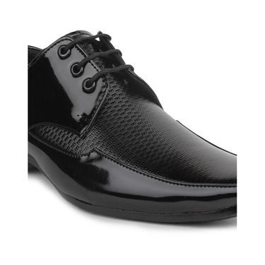 Pede Milan Artificial Leather Black Formal Shoes -pde40