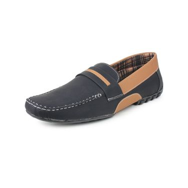 Pede Milan Synthetic Leather Black Loafers -pde07