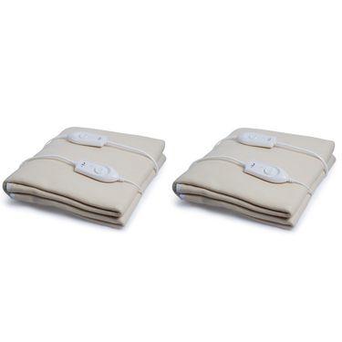 Set of 2 Expressions Polar Fleece Electric Double Blankets-POLAR04DB