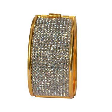 Pourni Gold Plated Studded Kada For Women_Prbg17 - Golden