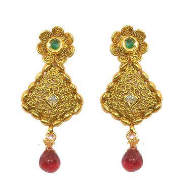 Pourni Designer Color Stone Earring_PRER25