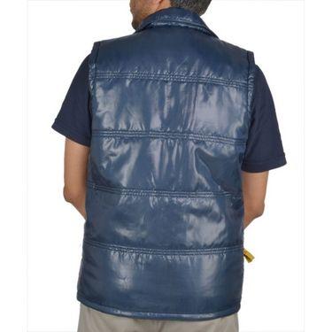 Branded Sleeveless Bomber Jacket (Polyester) For Men _PUMA-BLUE -  Blue