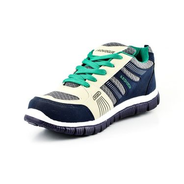 Provogue Mesh Sports Shoes PV1051-Navy & Green