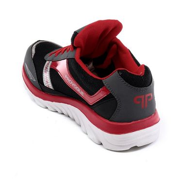 Provogue Black & Red Sports Shoes -Pv1065