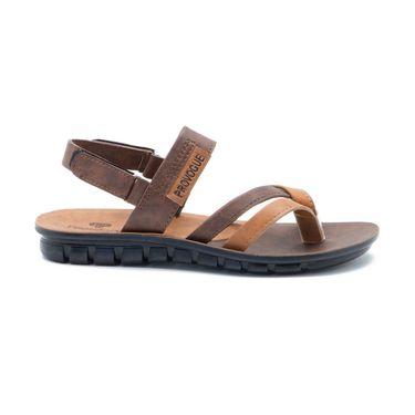 Provogue Mens Floater Sandals Pv1109-Brown & Tan