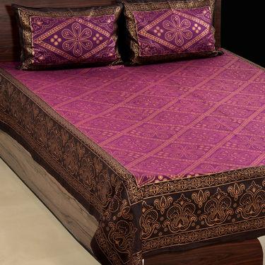 Luxury Queen Pack of 2 Gold Print Bedsheets