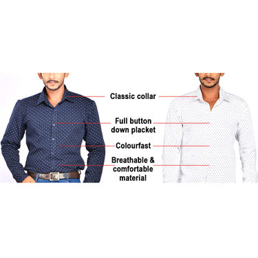 Pack of 2 Premium Printed Casual Shirts And Denim by American Indigo