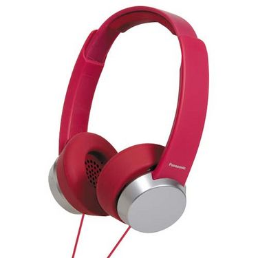 Panasonic RP-HXD3WE On-Ear Canal Headphone - Red