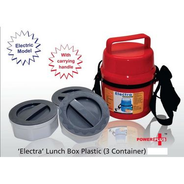 Power Plus Electra Lunch Box Plastic - 3 Container