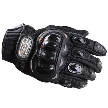 Branded Pro-Biker Riding XL Gloves - Black