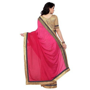 Indian Women Satin Chiffon Printed Saree -RA10602