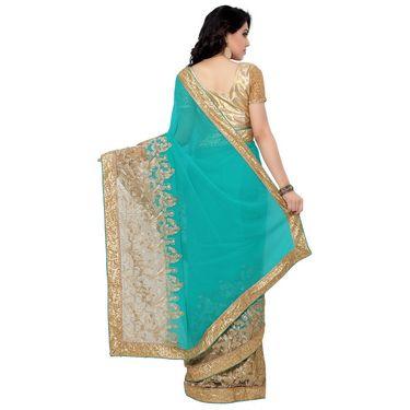 Indian Women Georgette Printed Saree -RA10603