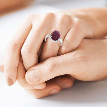 Kiara Jewellery Certified Manek 3.0 cts & 3.25 Ratti Ruby Ring_Rbrw