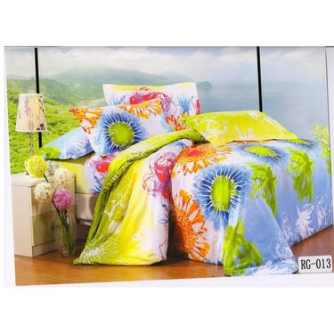 4D Printed  Double Bed Sheet With 2 Pillow Cover- RG-013