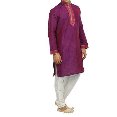 Runako Regular Fit Printed Party Wear Kurta Pyjama For Men_RK4074 - Multicolor
