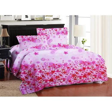 Bellamata Multicolor Print 4 Double Bedsheet With 8 Pillow Covers-RMC16