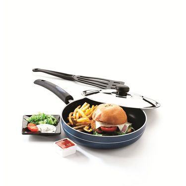 RECON MasterChef Non Stick Fry Pan with Steel Lid 215mm_RMSFP215