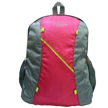 Donex Designer Light weight College Backpack Pink Grey_RSC00887