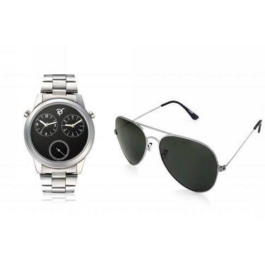 combo of Rico Sordi Analog Wrist Watch + Sunglasses_RSD35_WSG