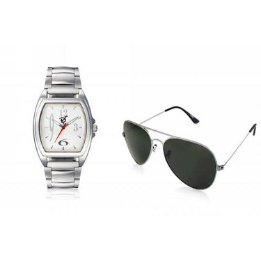Combo of Rico Sordi Analog Wrist Watch + Sunglasses_RSD36_WSG
