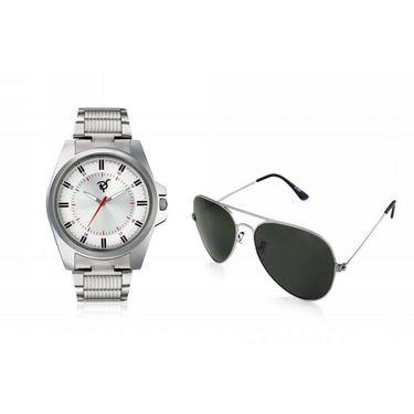 Combo of Rico Sordi Analog Wrist Watch + Sunglasses_RSD39_WSG
