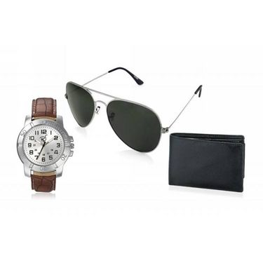 Combo of Rico Sordi Analog Wrist Watch + Sunglasses + Wallet_RSD42_WSGW