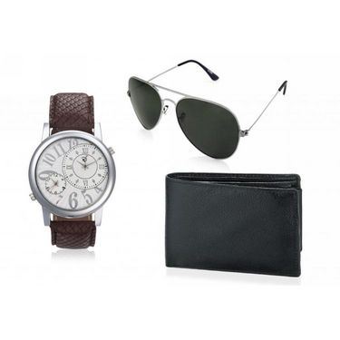 Combo of Rico Sordi Analog Wrist Watch + Sunglasses + Wallet_RSD44_WSGW