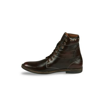 Bacca bucci-Faux leather-boots-Maroon-5822