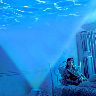 Romantic Ocean Waves Projector Night Lamp Speaker