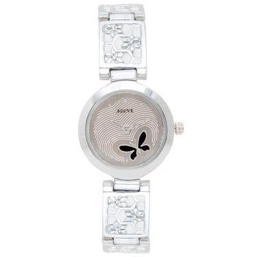 Adine Analog Round Dial Wrist Watch For Women_Rsw04 - Silver