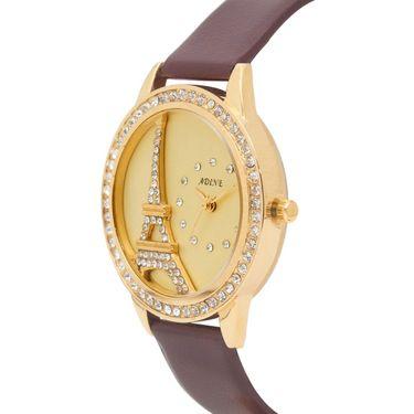 Adine Analog Round Dial Wrist Watch For Women_Rsw18 - Gold