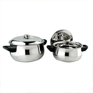 Signoracare SC-C-3417-CS 2Pcs Casserole - Silver