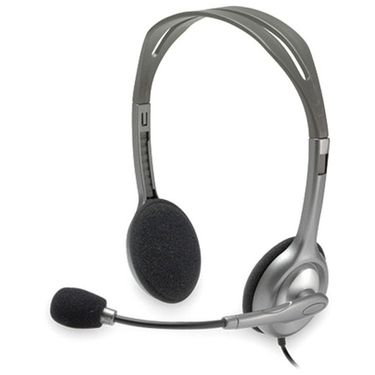 Logitech H111 Over-the-ear Wired Headphones - Black